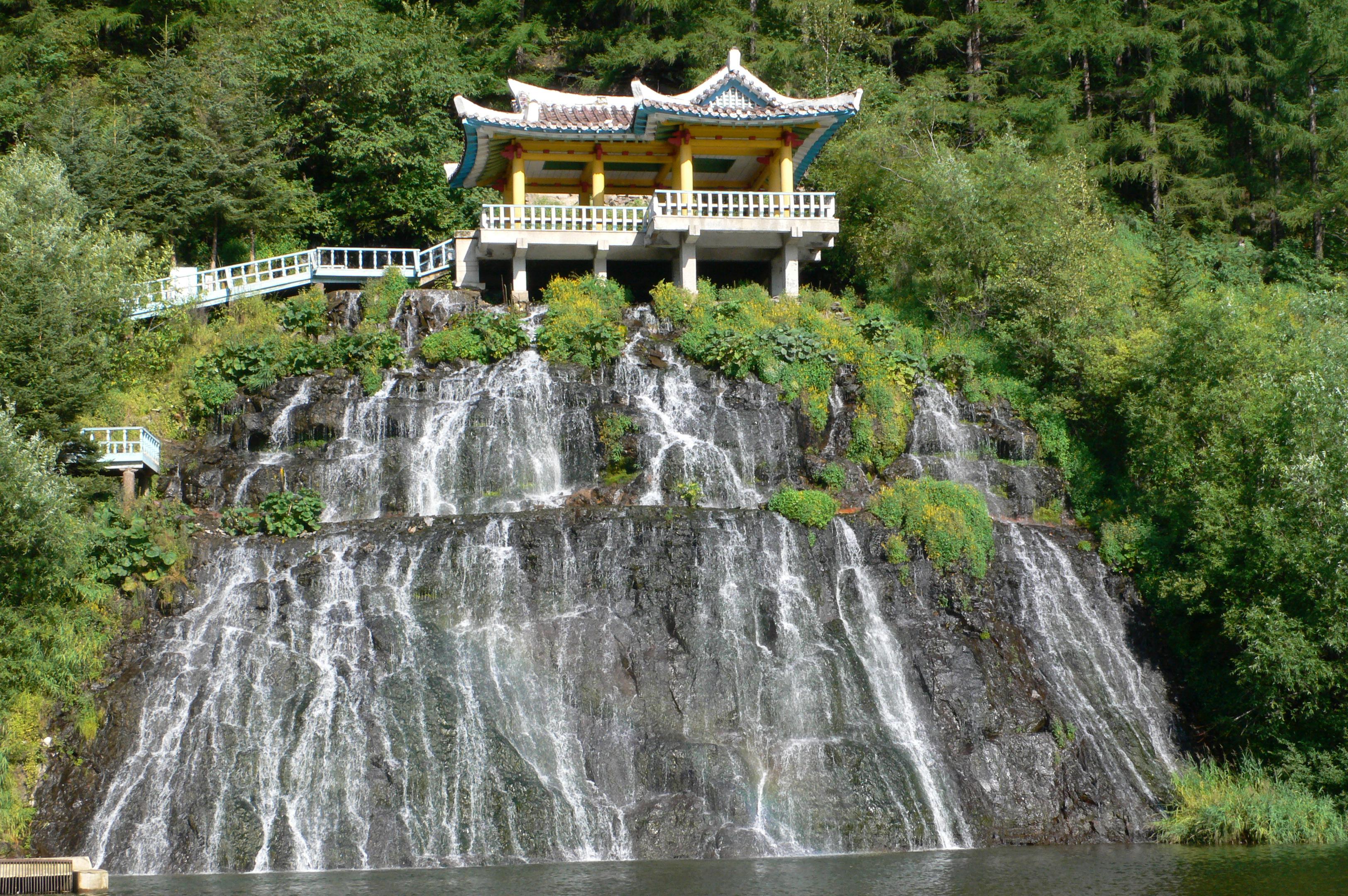 PAEKDU, Rimyongsu Waterfalls